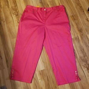 Ruby Rd. 16w pink capris